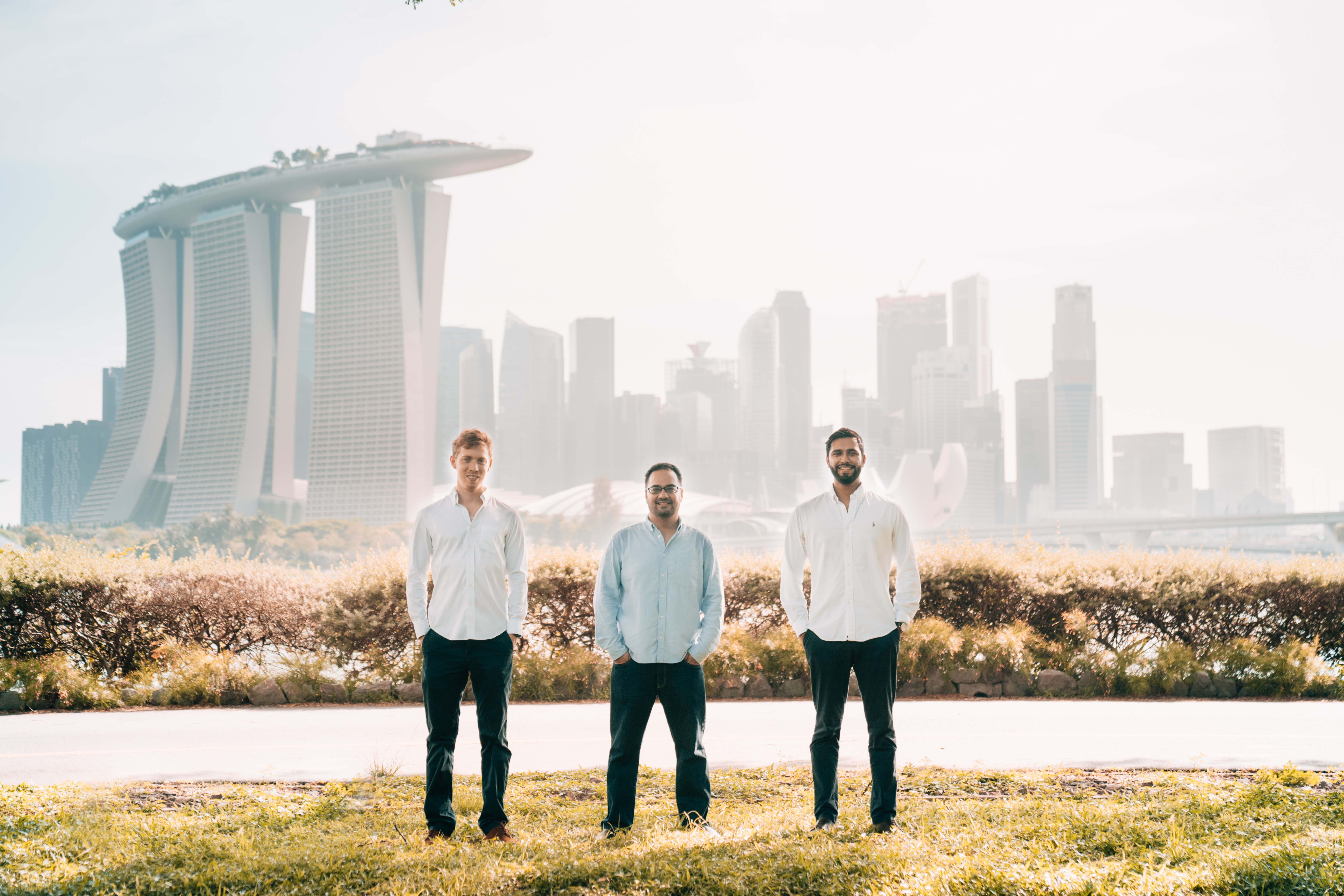 Una Brands' co-founders (from left to right): Tobias Heusch, Kiran Tanna and Kushal Patel